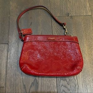 Coach Red Patent Leather Wristlet NWOT